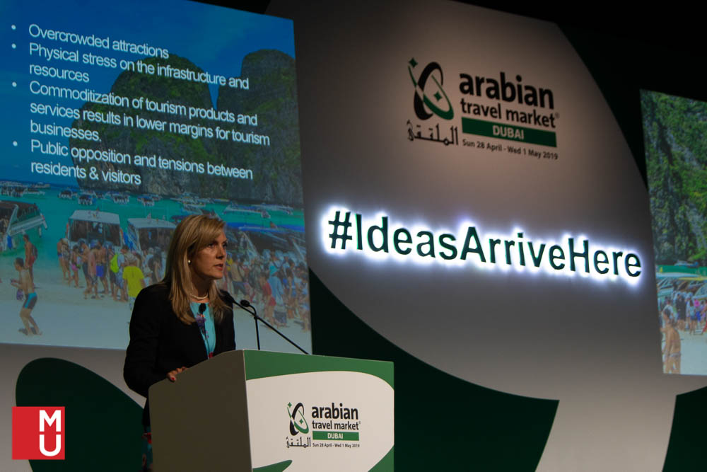 Jamina Locke, MODUL University, participates at Arabian Travel MArket 2019