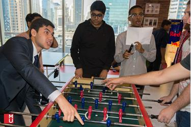 Foosball Table in action at MODUL